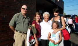 Janice Nagle, daughter-in-law of inductee Joe Nagle, and family.
