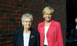 Doris Rendell, wife of inductee Brad Rendell, with their daughter inductee Kay Gould.