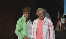 Fran DeAngelo and Erminia Rizzo, wife of inductee Marion Rizzo.