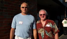 Tom and Barry Brown, sons of inductee Walt Brown.