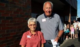 Inductee Bob Winterburn and Carol.