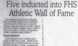 Five inducted into FHS Athletic Wall of Fame. 2003.