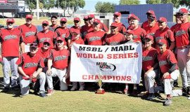 Charlie LaDuca, standing third from left, was a member of the Los Athletics team which won the Men's Senior Baseball League World Series. October 2017.