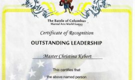 Outstanding Leadership certificate. May 25, 2013.