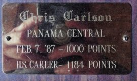 Chris Carlson scored 1184 high school career points.
