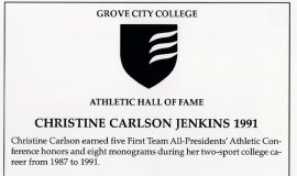 Chris Carlson Jenkins was inducted into the Grove City College Athletic Hall of Fame in 2011.