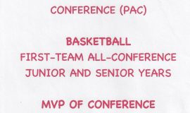 Chris Carlson was a PAC First-Team All-Conference  selection for basketball in her junior and senior years.
