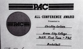 Chris Carlson was an All-Conference MVP First-Team selection in 1991 at Grove City College.