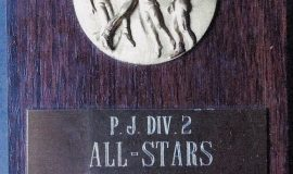 Chris Carlson, Division 2 volleyball All-Star. 1985.