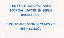 Chris Carlson was the <em>Post-Journal</em> area scoring leader in girls basketball in her junior and senior high school years.