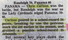 Randolph 70, Panama 66.