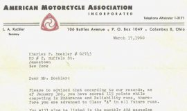 American Motorcycle Association. March 17, 1960.