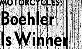 Boehler Is Winner. May 10, 1965.