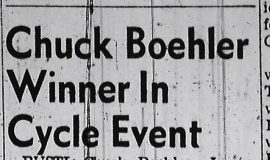 Chuck Boehler Winner In Cycle Event. July 24, 1961.