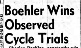Boehler Wins Observed Cycle Trials.  May 14, 1962