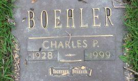 Chuck Boehler's grave marker.