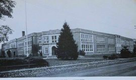Postcard view of Lakewood High School.