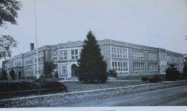 Postcard view of Lakewood High School.