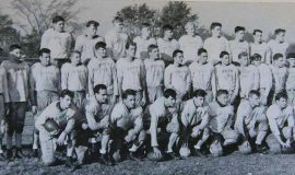 1947-48 SWCS Football - Flash Olson second row, 7th from left.