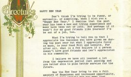 Collins Xmas letter