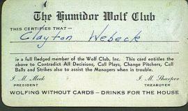 Humidor Wolf Club