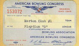 bowling card 1945
