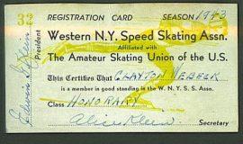 skating card 1943