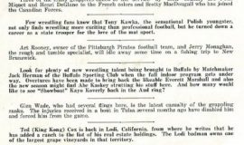 wrestling program 1940 p.1