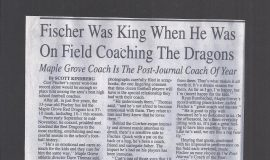 Fischer Was King When He Was On Field Coaching The Dragons. 1996.