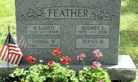 Dan Feather's burial marker