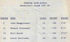 1967-68 Dunkirk basketball