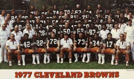1977 Cleveland Browns. Dave Graf is in center of fourth row (in circle).