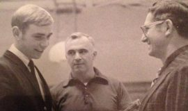 Dave Graf, Ed Gibbons, Al Stulhmiller in 1970 at Dunkirk High