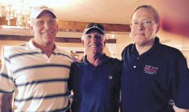 Hall of Fame inductees Dave Graf, Bob Wisniewski and Dan Palmer in Dunkirk, NY August 7, 2015.