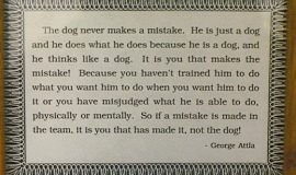 Advice for the trainer from legendary musher George Attla.