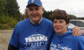 Former Panama coaches Jack Keeneyand Deb Palmer.