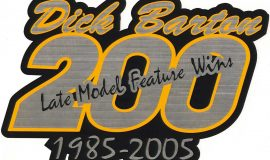 Dick Barton 200 Wins decal. 2005.