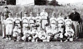 Dick Cole is the tall boy in the back row in this 1958 photo of his Little League team.