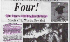 Cole Claims Title For Fourth Time. Page 1. 2003.