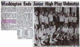 Junior High School basketball articles.