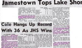 Jamestown High School basketball articles.