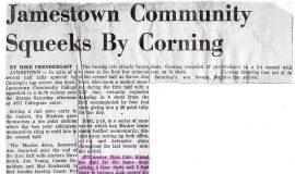 Jamestown Community Squeeks By Corning.