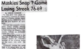 Muskies Snap 7-Game Losing Streak 76-69.