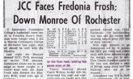 JCC Faces Fredonia Frosh; Down Monroe Of Rochester.