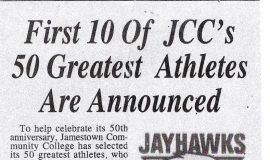 First 10 Of JCC's50 Greatest Athletes Are Announced. 2000.