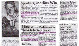 Babe Ruth baseball articles.