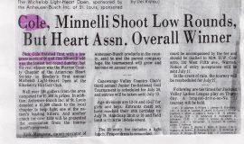 Cole, Minnelli Shoot Low Rounds, But Heart Assn. Overall Winner.
