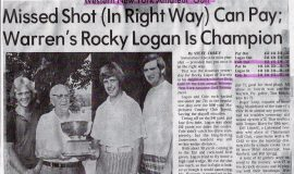 Missed Shot (In Right Way) Can Pay; Warren's Rocky Logan Is Champion.