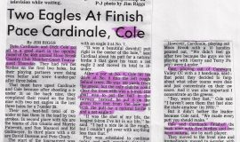 Two Eagles At Finish Pace Cardinale, Cole.