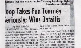 Loop Takes Fun Tourney Seriously; Wins Bataitis.